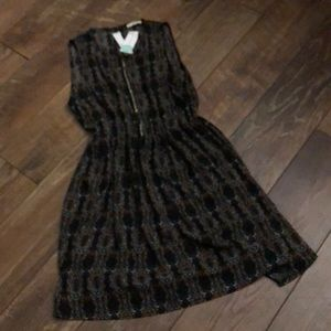 LA Made Keydon Bead Tribal Dress Brown S NWT